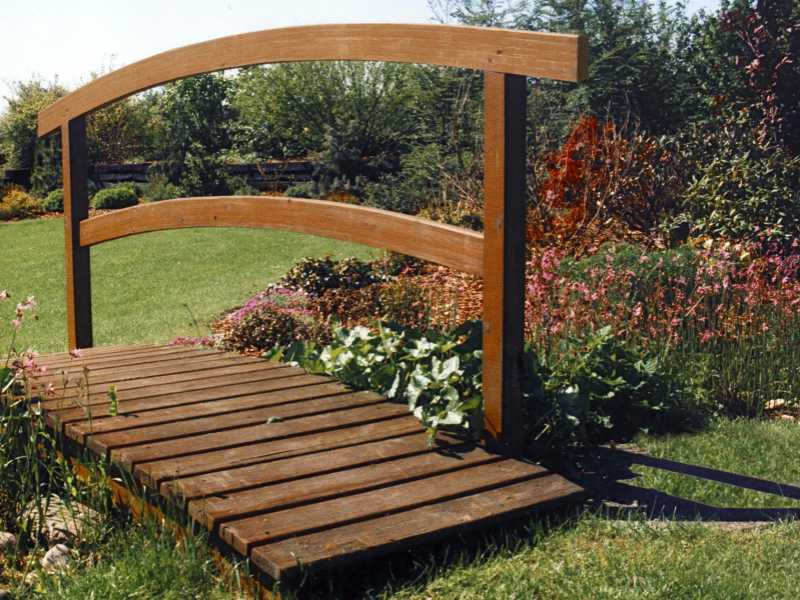 Holzbrücke Besonders Natürlich Saw Garten Und Landschaftsbau In